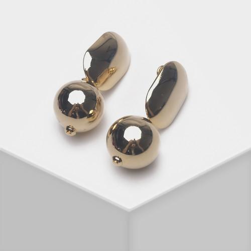 EH63445-E149球球金属片耳环