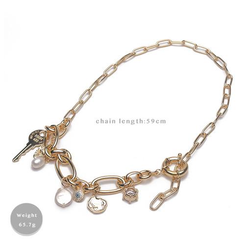 XL62976-E147巴洛克珍珠夸张项链