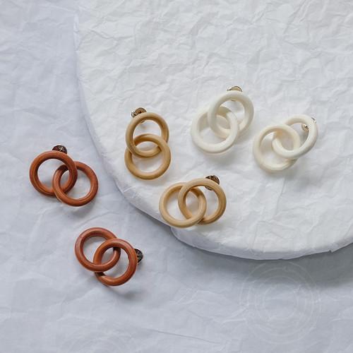 EH63395-E147三色木质圈圈耳环