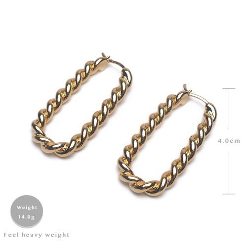 EH63527-G193麻绳U形耳环