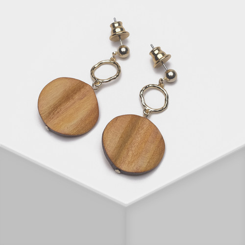 EH63520-E146气质棕色耳环