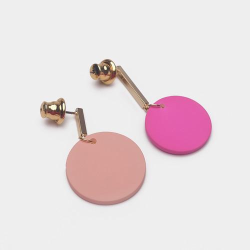 EH63356-E146彩色木质圆圈耳环
