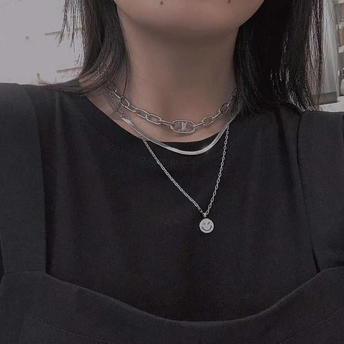 XL32605-2下3笑脸 满钻项链