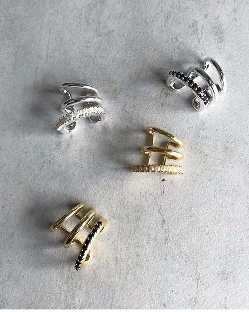 EH32091-B9珍珠微镶耳骨夹