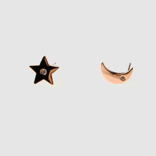 EH16599-E140星月不对称耳钉