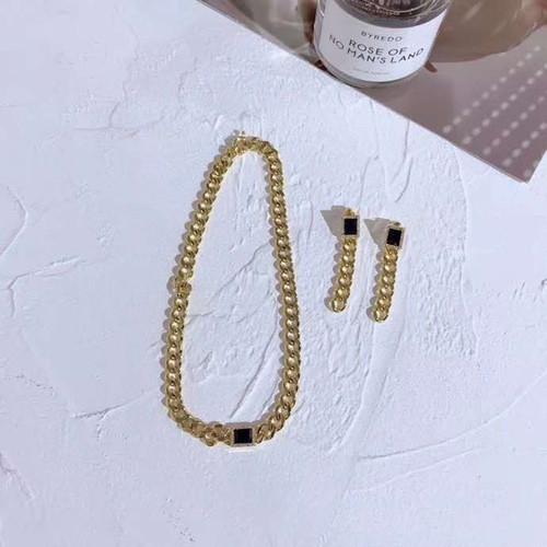 EH32063-方块链条耳环