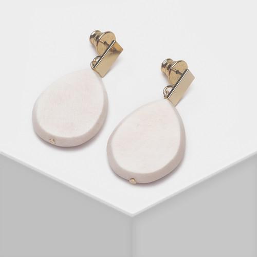 EH63478-E147水滴木质三色耳环