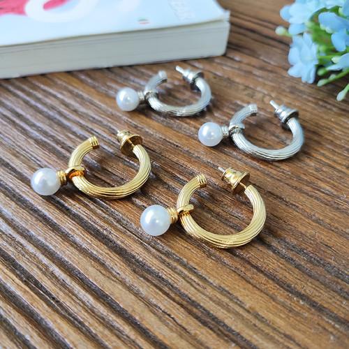 EH32199-2-12气质珍珠半圈耳环