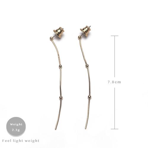 EH63510-E147简约细长条款耳环