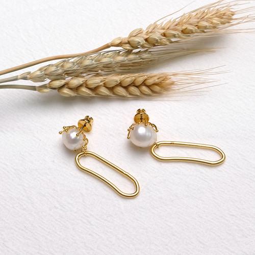 EH63877-E147珍珠吊坠耳环
