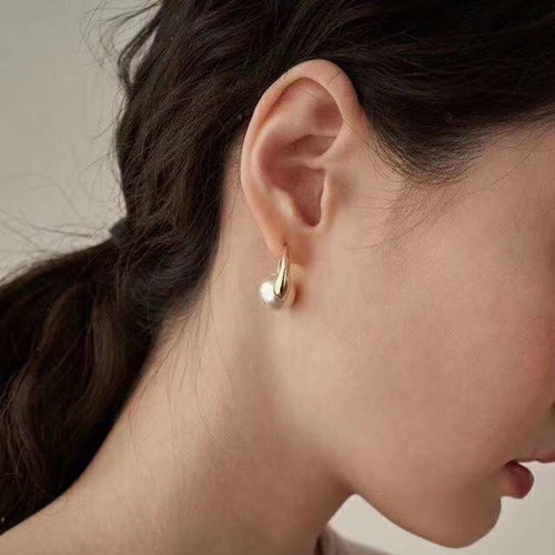 EH64007-G183珍珠耳骨夹耳环