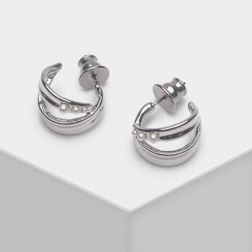EH63393-E146简约弧形耳环