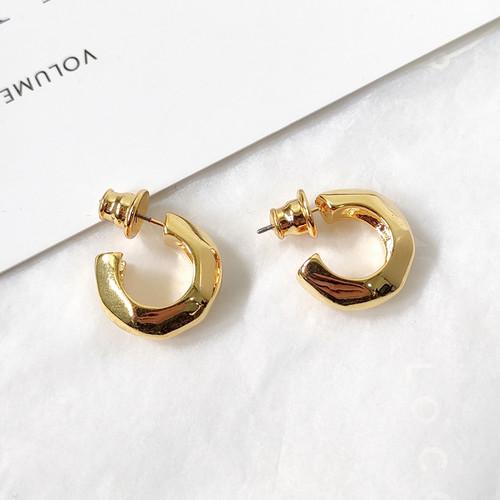 EH63505-E146双色镀金圈圈耳环