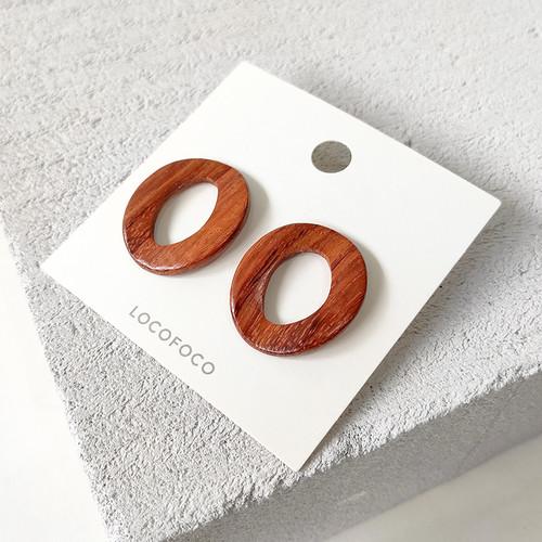 EH63381-E149木质圆圈耳环