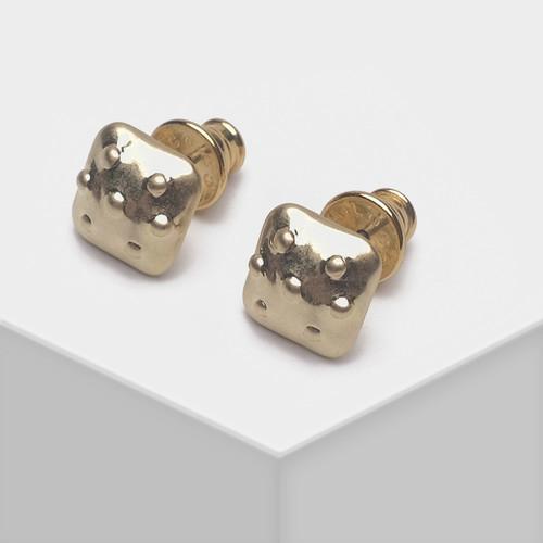 EH63123-E147简约方块小耳钉