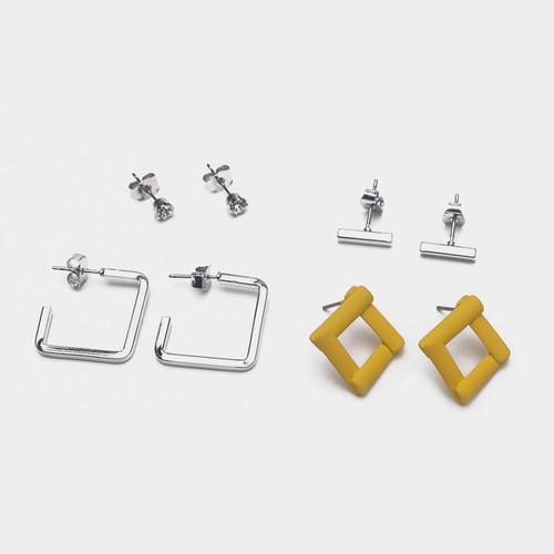 EH63379-E146四件套彩色小耳钉