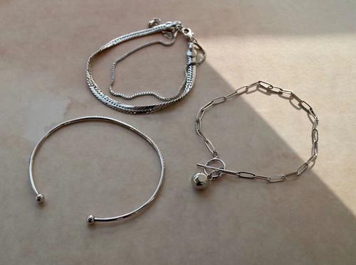 SL62690-G187蛇链双层手链