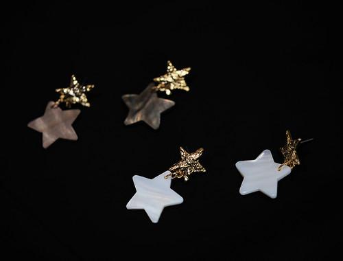 EH63353-E148星星贝母耳环