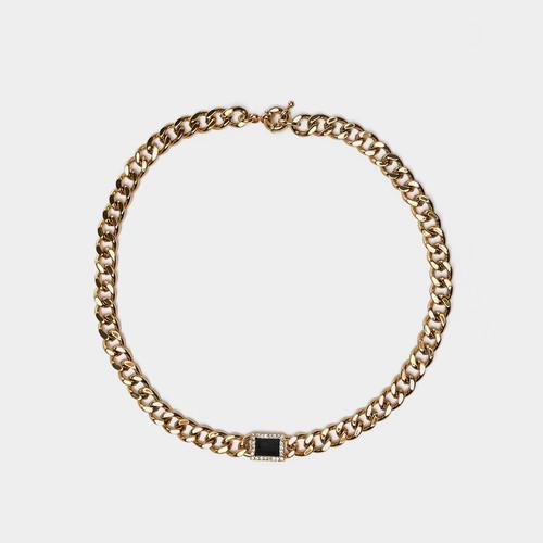 XL26610-3下3小方块石头项链