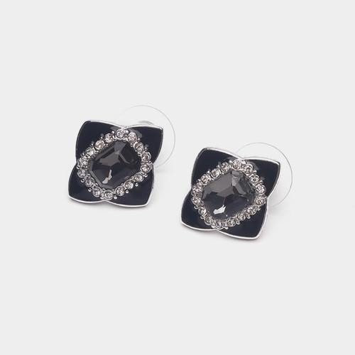 EH10828-C上1菱形方块小耳钉