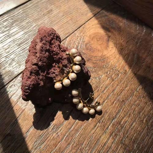 EH63909 棉花珍珠耳环