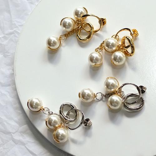 EH63105-E147珍珠吊坠耳环