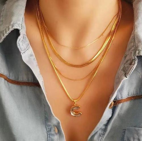 XL26593-E13蛇链三层 项链