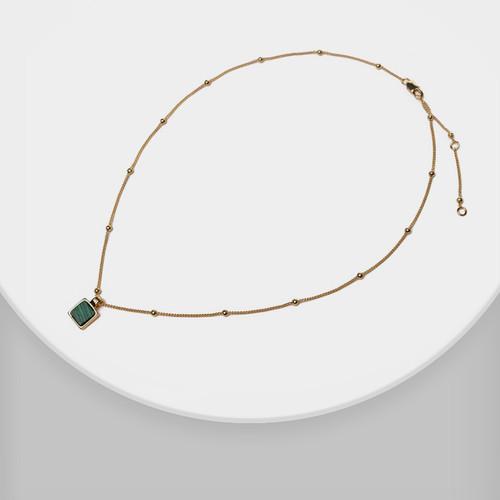 XL26357-G5绿石方块项链