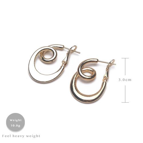 EH63441-E149简约扭曲个性耳环