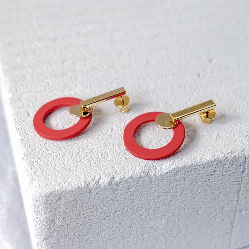 EH63362-E146彩色圆圈耳环