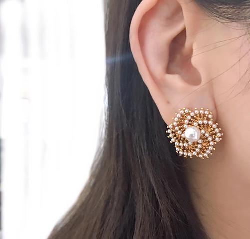 EH30183-2-4珍珠小花耳钉
