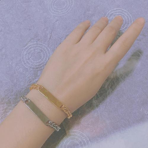 SL62664-C071金属链条长方块手链