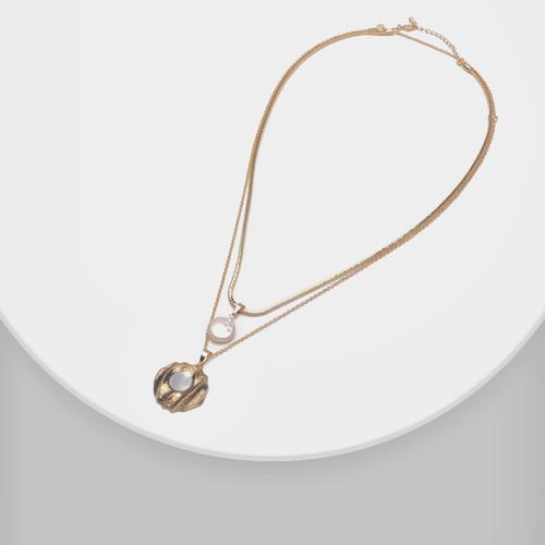 XL62991-E149双层珍珠贝母项链