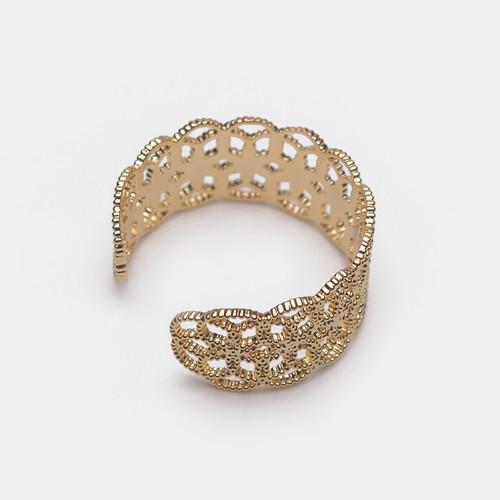JZ63257-E149镂空蕾丝开口戒指