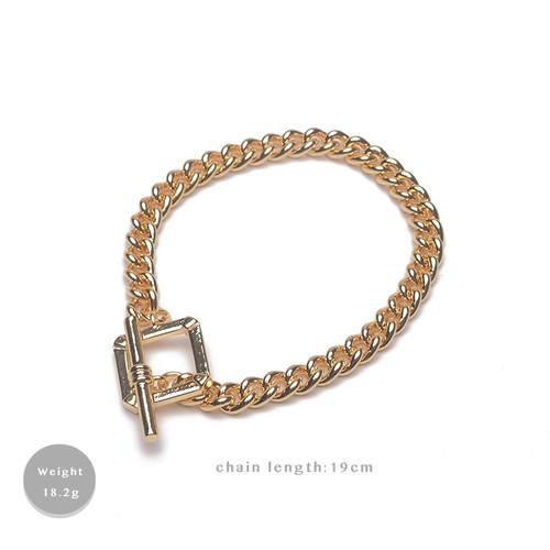 SL62678-E149简约链条OT扣男女同款手链