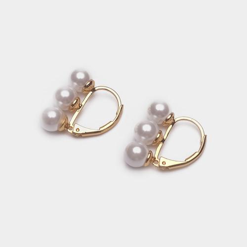 EH26407-3-4简约三颗珍珠耳环