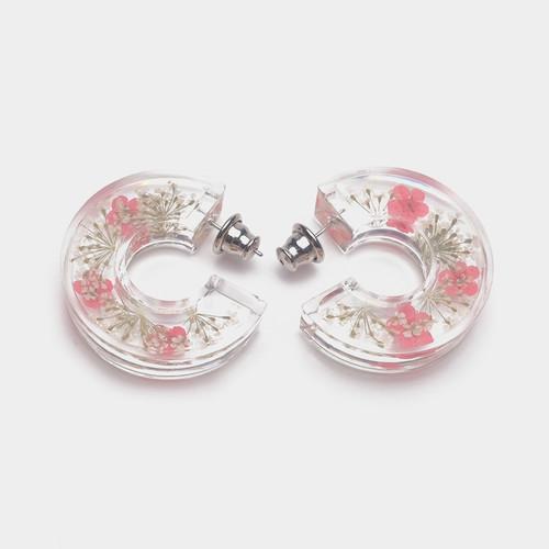 EH63376-E148清新干花透明树脂耳环