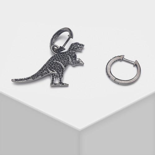 EH63112-E147锆石恐龙耳环