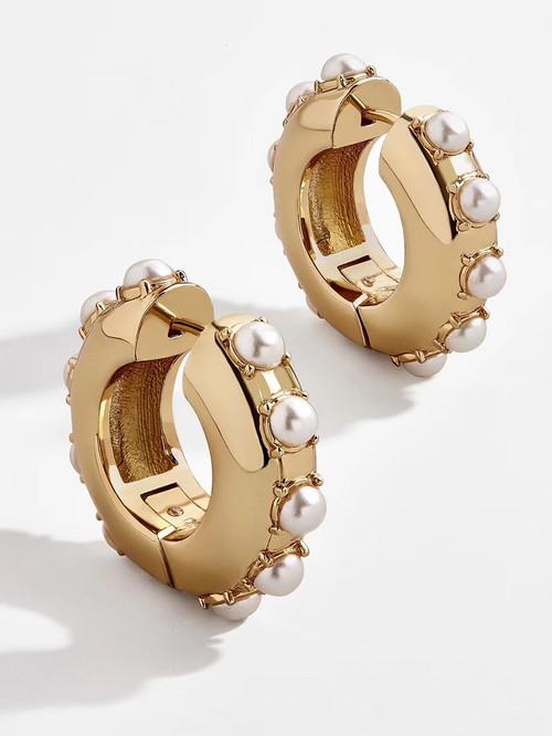EH30355-B4珍珠 小圈圈简约百搭耳环