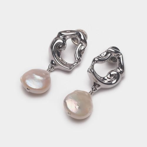 EH30237-C16天然珍珠镂空耳环