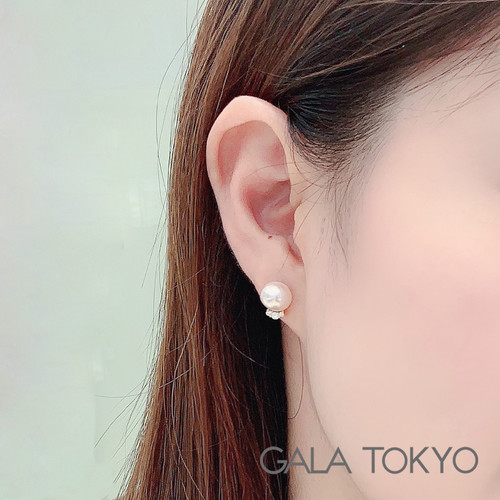 Akoya 三钻耳钉