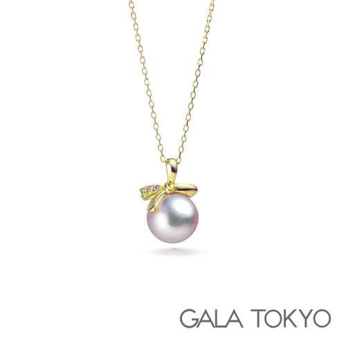Akoya日本海水珍珠 蝴蝶结珍珠项链 18k可调节锁骨链