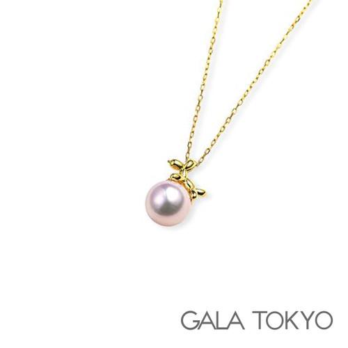 Akoya 气球狗项链 8.0-8.5mm 18KYG