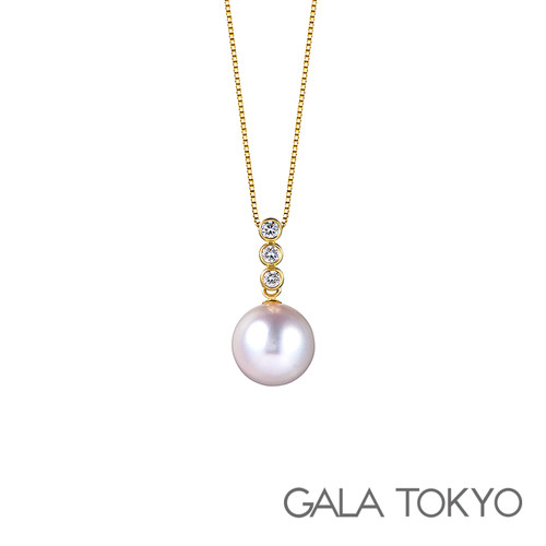 Akoya 泡泡珍珠项链 9.0-9.5mm 18KYG