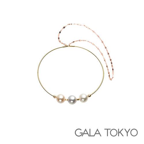 Akoya 真多麻 三色珠手环 8.0-8.5mm 18KYG RG