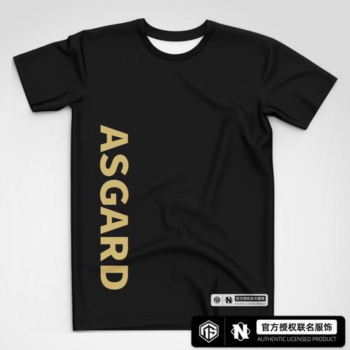AS仙阁 黑金潮流短袖T恤