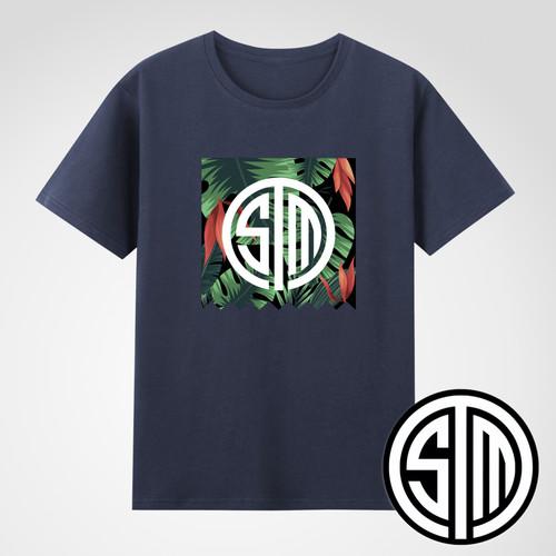 TSM鲜花图案潮流T恤