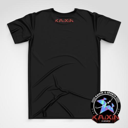 KAIXIN开心中文黑色简约T恤