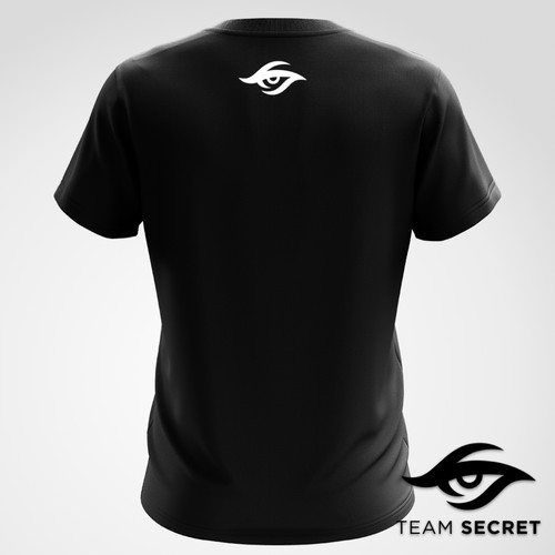 Team Secret 侧面大LOGO 潮流T恤