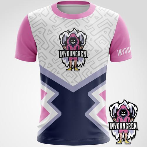INYOUNGREN 2020 电竞选手比赛T恤